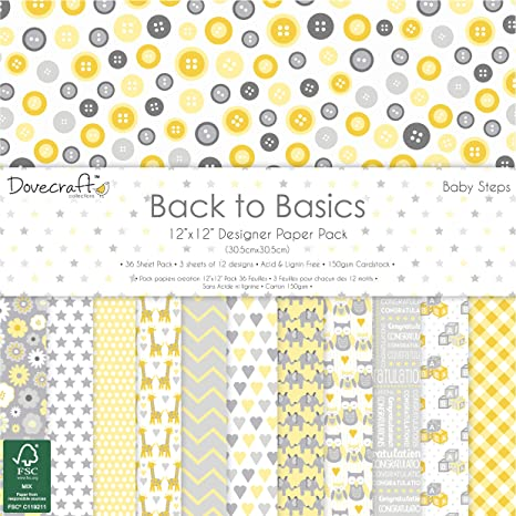Dovecraft Back to Basics - bebé Pasos Collection - Papel ...