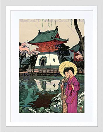 Abstract Japanese Geisha Picture Poster Oriental Japan Art Framed Print