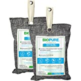 Biopure - Kit de 2 bolsas purificadoras - Carbón activado 100% biodegradable - Bambú - Remueve malos olores, humedad…