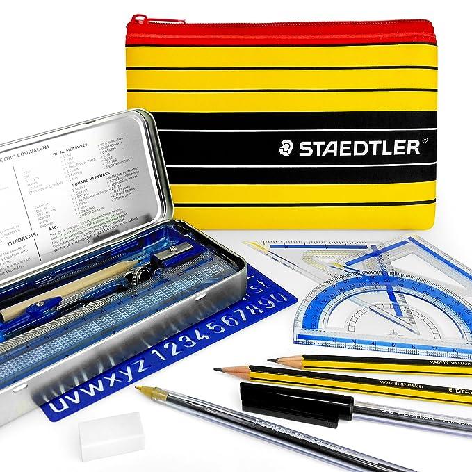 Kit escolar esencial para matemáticas Noris Club de Staedtler, con estuche a juego
