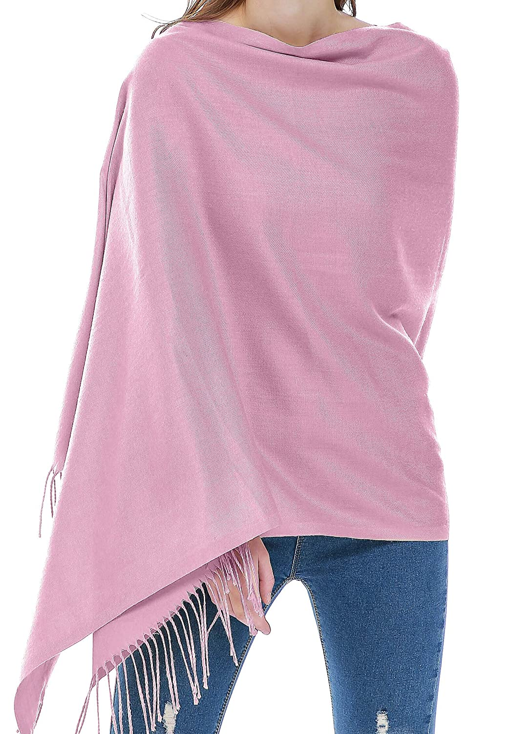 Light Purple Rheane Large Cashmere Feel Pashmina Shawl Scarf in Solid colors