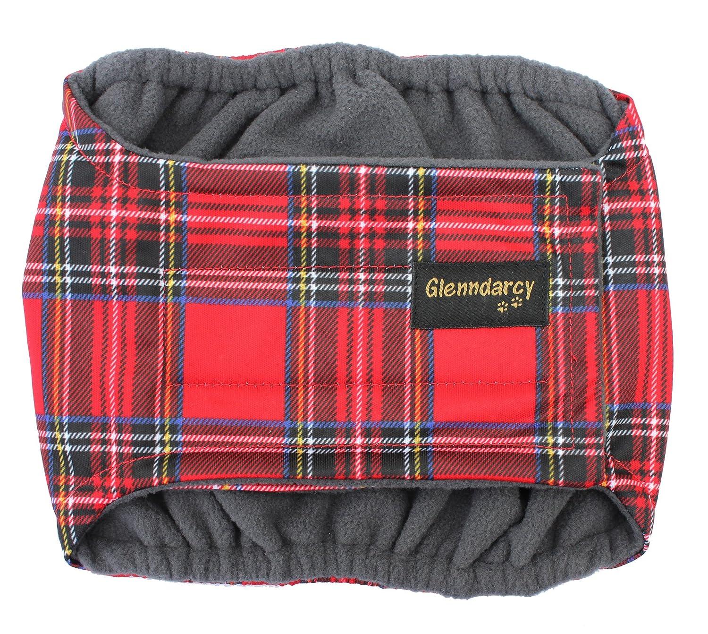 Glenndarcy Male Dog Belly Band I Urine Incontinence I Royal Stewart Large Band only