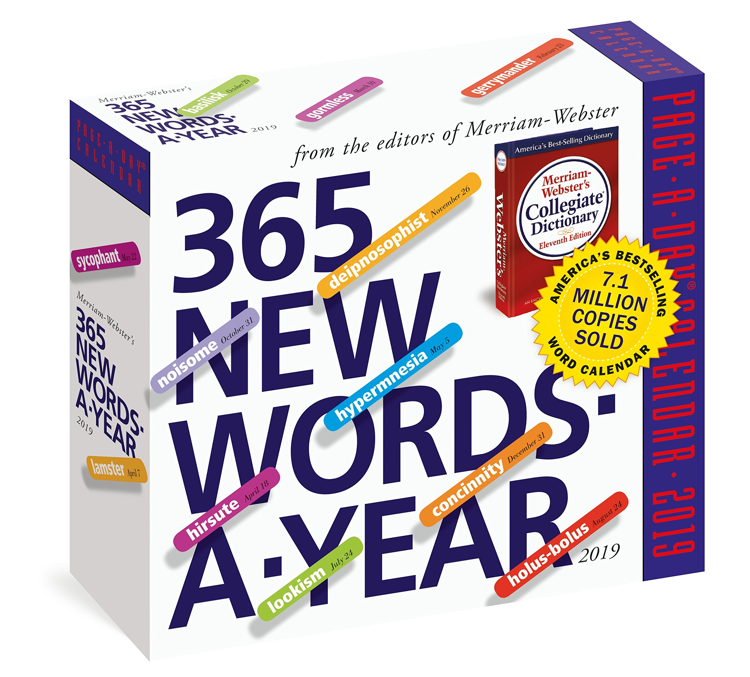 Calendario 2020 Word.Amazon Com 365 New Words A Year Page A Day Calendar 2019