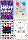 12 Contemporary Design Birthday Cards & Envelopes by Greetingles. Made in UK