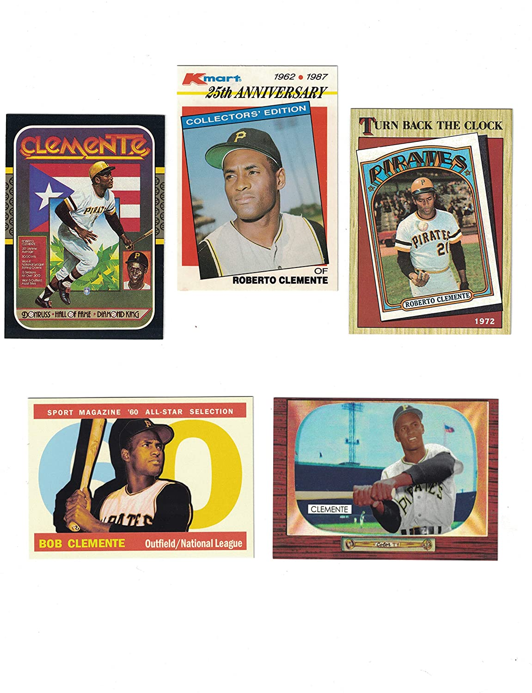 Roberto Clemente 5 Baseball Card Lot
