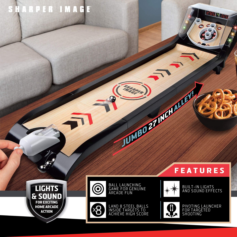 Sharper Image Desktop Arcade Shootout Challenge 3 Targets Automatic Ball Return