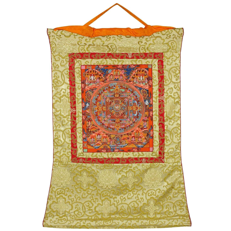 Amazon.com: Buddhist Wall Decor - Hanging Silk Canvas Scroll Art ...