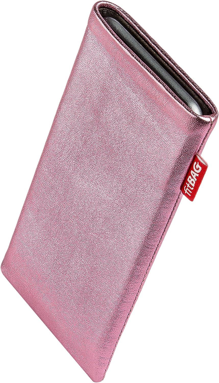 2020 Made in Germany fitBAG Groove Pink Handytasche Tasche aus feinem Folienleder Echtleder mit Microfaserinnenfutter f/ür Apple iPhone 8 // SE 2 | H/ülle mit Reinigungsfunktion