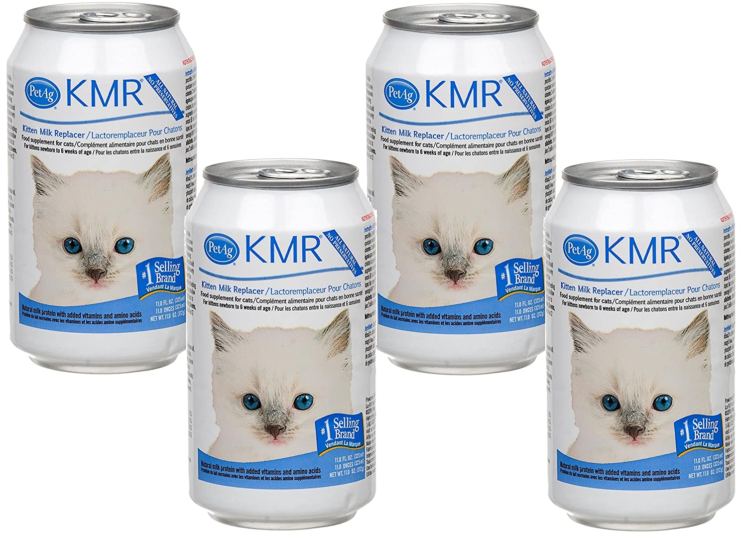 (4 Pack) KMR Liquid Replacer For Kittens and Cats, 11 Ounce Cans