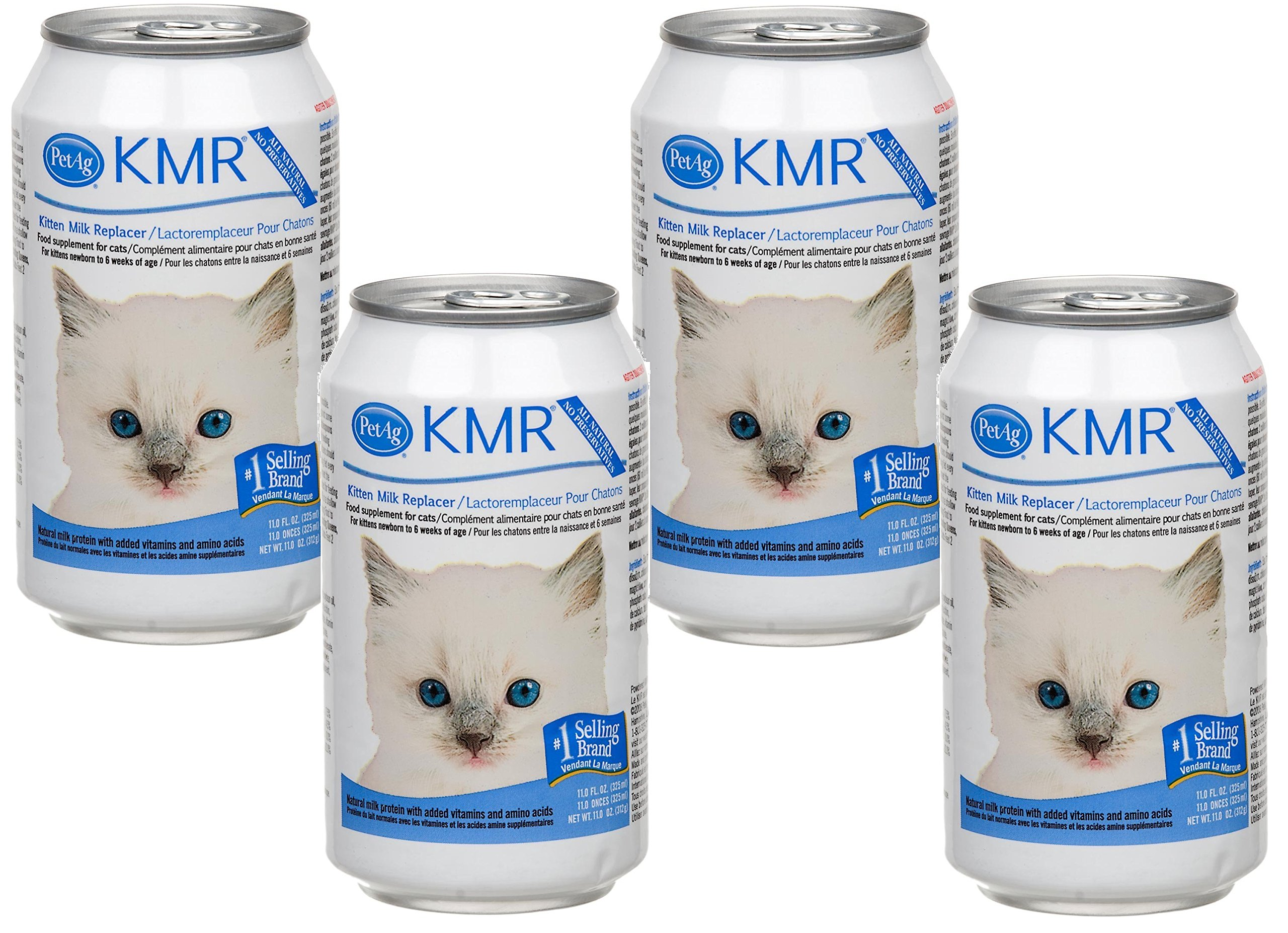 (4 Pack) KMR Liquid Replacer for Kittens and Cats, 11 Ounce Cans by Pet Ag