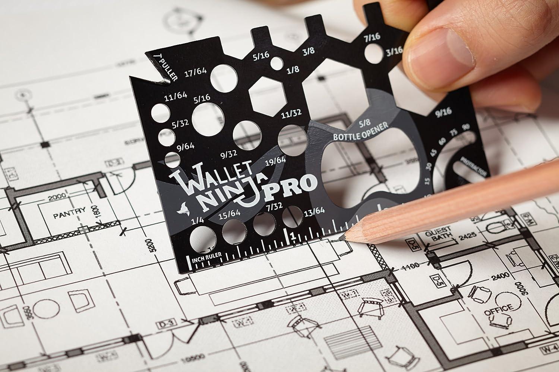 Wallet Ninja PRO 26 in 1 Credit Card Sized Measuring Tool