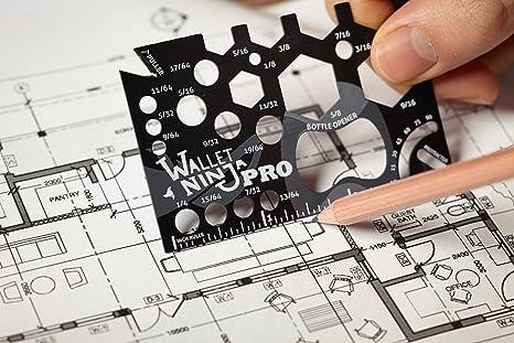 Wallet Ninja PRO Wallet Multi-Tool Credit Card Sized 18-Function Bottle Opener