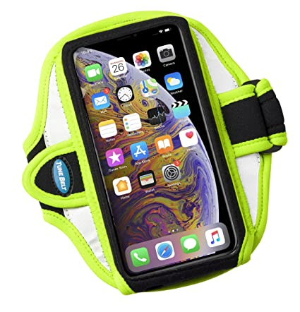 best website ea639 e1776 Armband Compatible with iPhone Xs Max, Xr, 8 7 6s 6 Plus, Galaxy S8 S9 Plus  and Note 8 9 - for Running & Working Out - Sweat-Resistant [Neon Yellow]