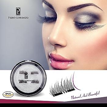 4-Pcs Piero Lorenzo 3D Magnetic False Eyelashes Glue