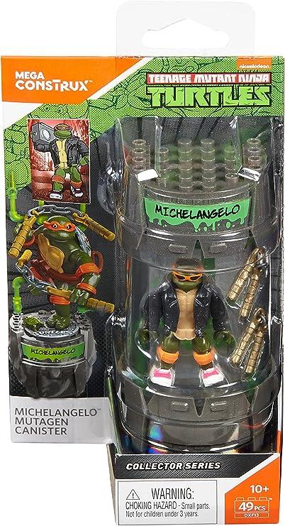 Mega Construx Teenage Mutant Ninja Turtles Classic Series Michelangelo Mutagen Canister