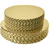 """[25pcs]10"""" Gold Cakeboard Round,Disposable Cake Circle Base Boards Cake Plate Round Coated Circle Cakeboard Base 10inch…"""