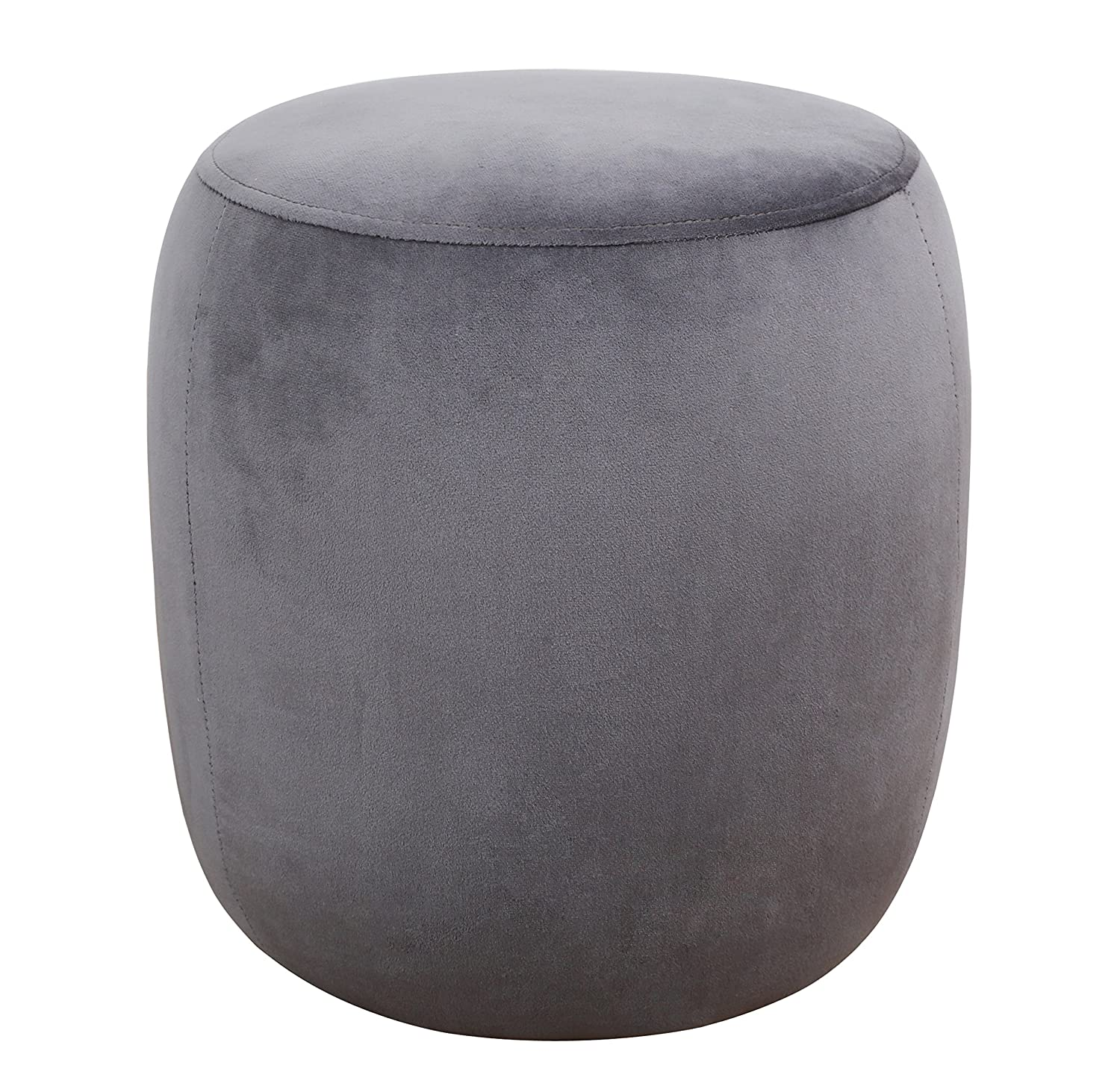 Outstanding Tov Furniture Tov Oc3816 The Willow Collection Modern Velvet Upholstered Round Ottoman Grey Caraccident5 Cool Chair Designs And Ideas Caraccident5Info