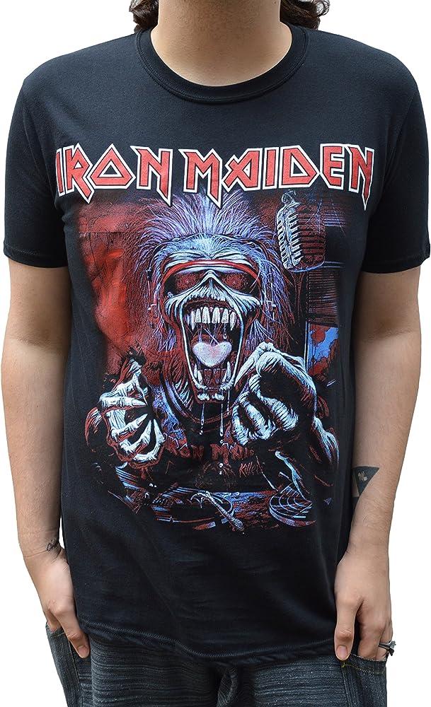 Oficial Camiseta Iron Maiden Eddie a real dead one todos los tamaños Negro negro X-Large: Amazon.es: Hogar
