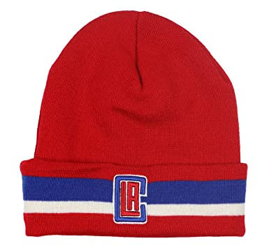 4cdaf22cf Mitchel & Ness Men's Los Angeles Clippers Team Stripe Beanie One ...