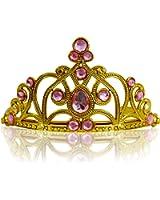 Katara - Diadema Corona con Pietre Tiara da Principessa per Bambine e Ragazze per Carnevali e Feste - Disponibile in Vari Colori - Oro/Rosa chiaro