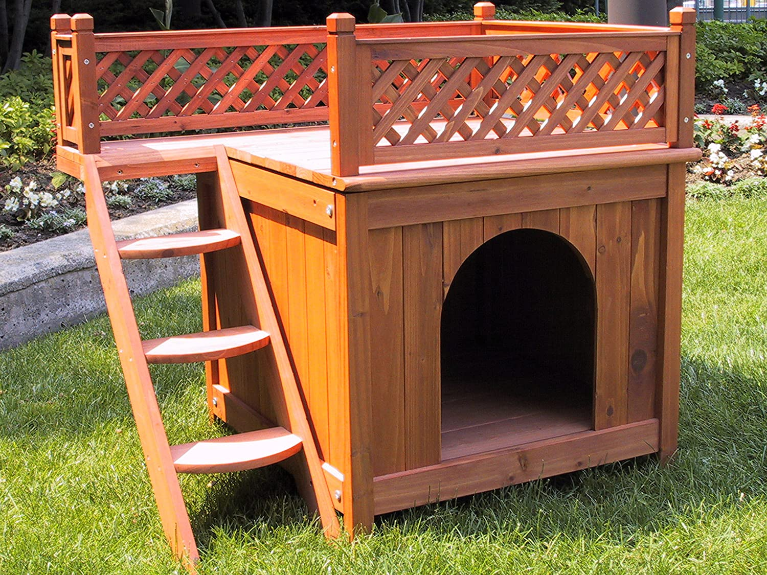 Indoor dog houses - Amazon Com Merry Pet Mps002 Wood Room With A View Pet House Dog Houses Pet Supplies