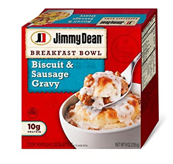 Jimmy Dean, Biscuit & Sausage Gravy Breakfast Bowl, 9 oz. (Frozen)