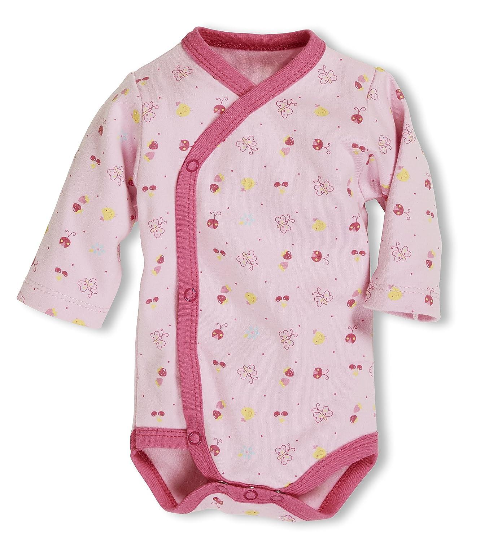 Oeko Tex Standard 100 Body Rose 14 Fr/ühchen Schnizler Baby-M/ädchen Wickelbody Allover Langarm Rosa Herstellergr/ö/ße: 44