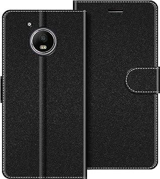 COODIO Funda Motorola Moto G5 Plus con Tapa, Funda Movil Motorola Moto G5 Plus, Funda Libro Motorola Moto G5 Plus Carcasa Magnético Funda para Motorola Moto G5 Plus, Negro: Amazon.es: Electrónica