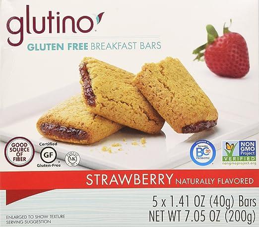 glutino, sin gluten, Fresa Desayuno Bares, 7.05oz Caja (Pack ...