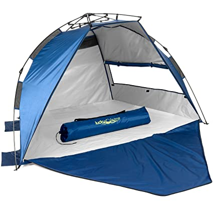 quality design 9eb51 87e69 Lucky Bums Easy Up Beach Tent - UPF 50+ Protection - 48