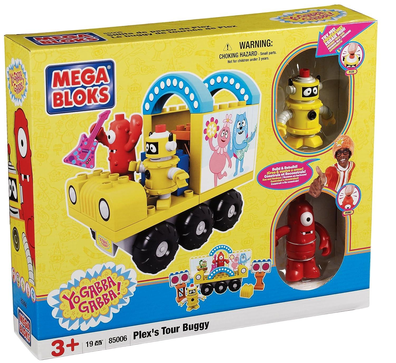 Amazon Mega Bloks Yo Gabba Gabba Plex s Tour Buggy Toys & Games