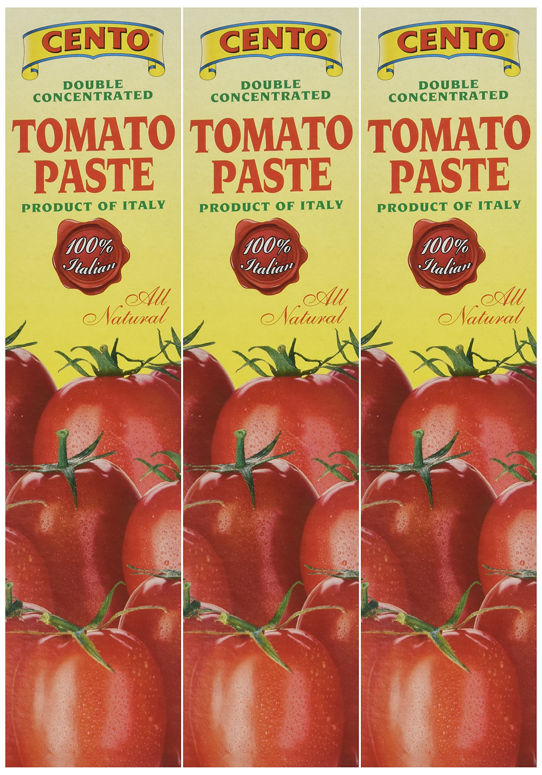 Cento Tomato Paste in Tube 4.56 oz,Pack of 3 by Cento