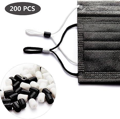 DIY Cord Locks For Ear Loop Adjuster Elastic Band Stopper Fastener 200pcs