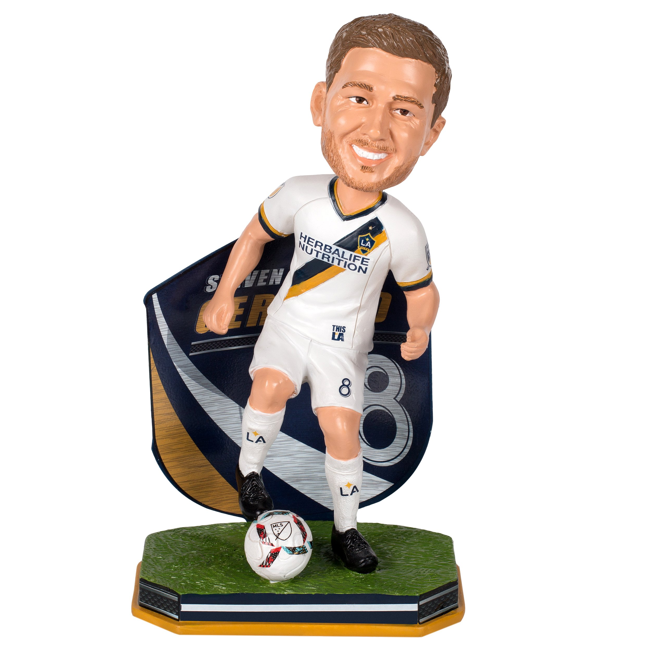 FOCO Los Angeles Galaxy Gerrard S. #8 Name and Number Bobble
