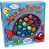 Let's Go Fishin' Game -- Classic Game with 21 Fish and 4 Fishing Poles