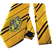 EntSupplies Harry Potter Tie - Hufflepuff Tie - Hogwarts House Emblem for Dressup Cosplay Party