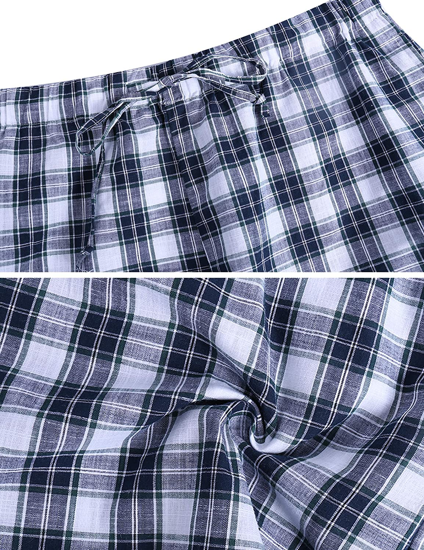 Ropa De Dormir Aibrou Pantalon De Pijama Hombre Corto De Algodon Pantalon De Casa Vearno Salon Pantalones De Dormir A Cuadros Ropa Celp Es