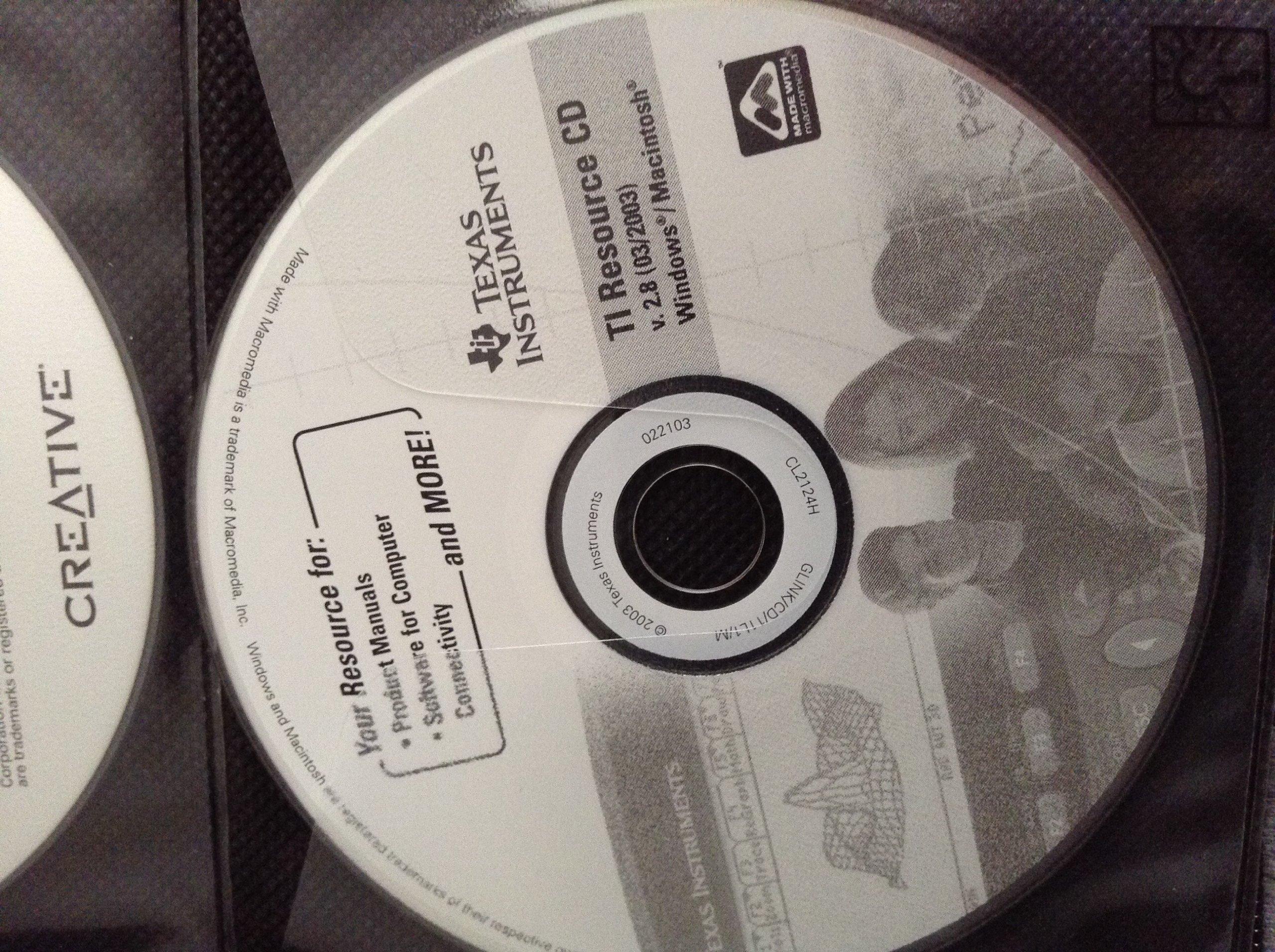 Texas Instruments Ti Resource Cd (windows/macintosh, v.2.7.1