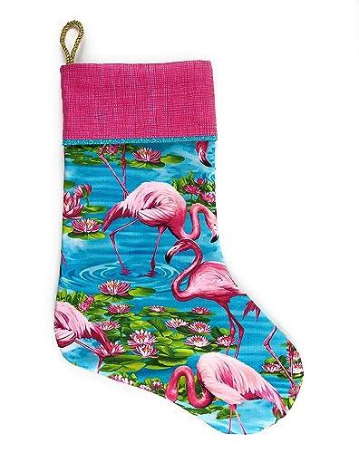 Pink Christmas Stocking.Pink Flamingo Christmas Stocking 18 Inch