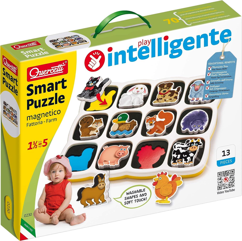 Quercetti- Smart Puzzle Magnetico Quercetti-0230 Animales de Granja, Multicolor (0230): Amazon.es: Juguetes y juegos