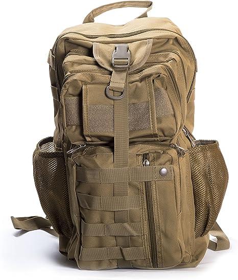 Envio 24H Militar-TLD Mochila de senderismo 32 Litros,Color TAN ...