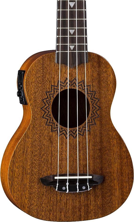 Luna Vintage Mahogany Acoustic/Electric Soprano Ukulele with Preamp