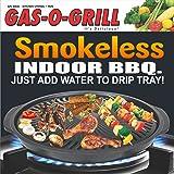 STEEMO 14-inch Aluminium Smokeless BBQ Grill, Black