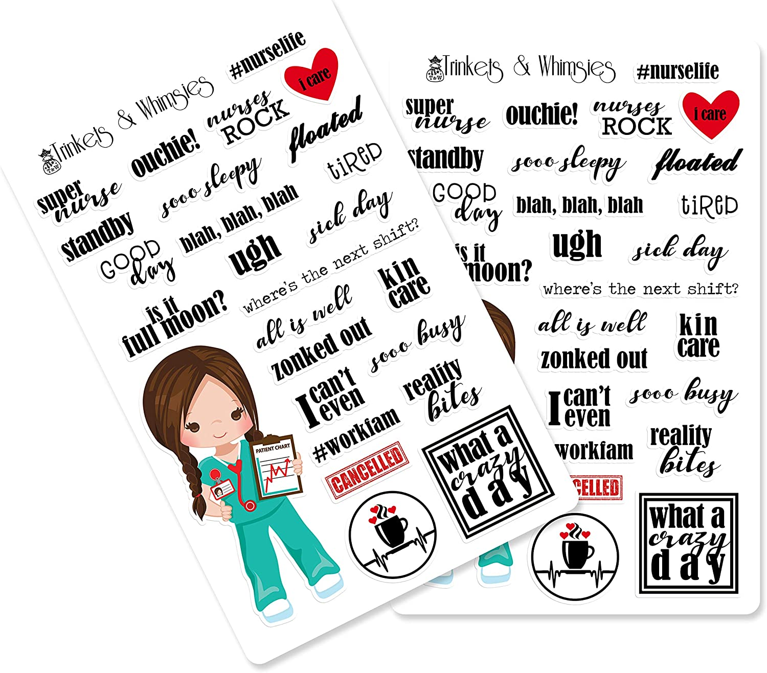 High Quality QUICK SHIP! Recollections NURSING themed Stickers~Gorgeous