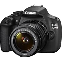 Canon EOS 1200D Fotocamera Reflex Digitale, 18 Megapixel, Obiettivo EF-S 18-55mm IS II, Nero