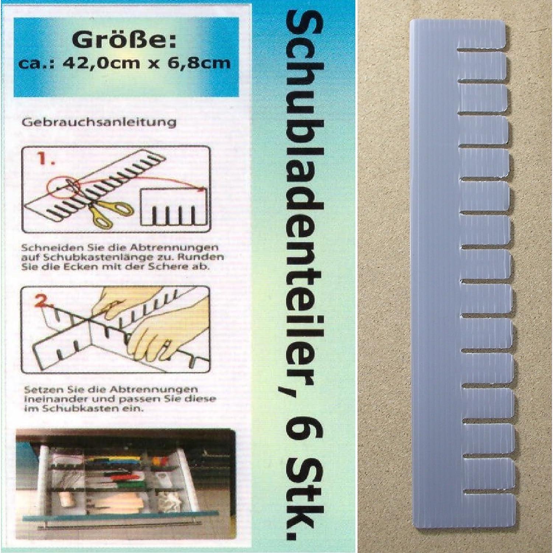 1a-becker 24x Schubladenteiler Schubladen Einteiler Fach Ordnungssystem Fachteiler grau