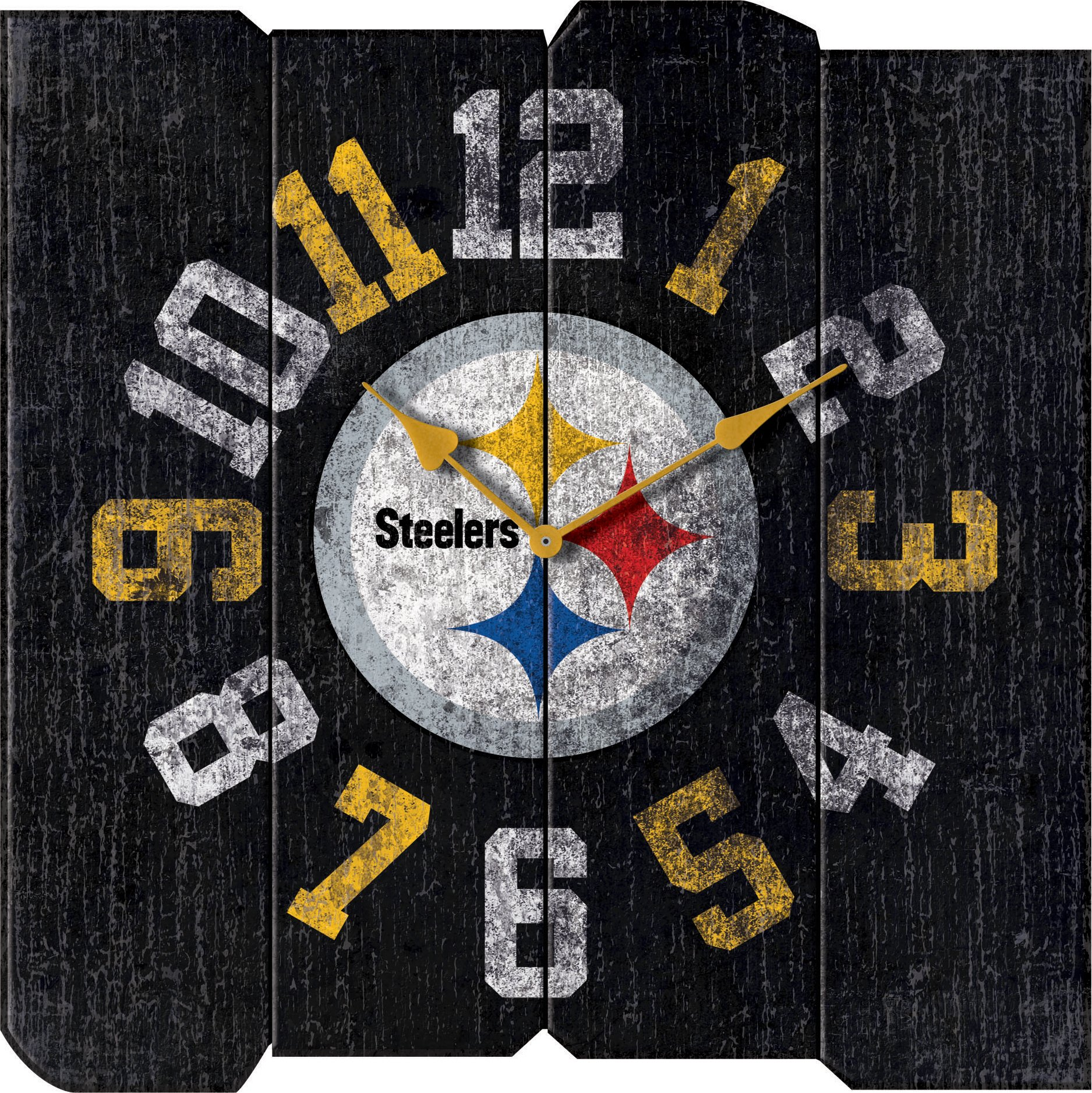 Imperial Officially Licensed NFL Merchandise: Vintage Square Clock, Pittsburgh Steelers by Imperial