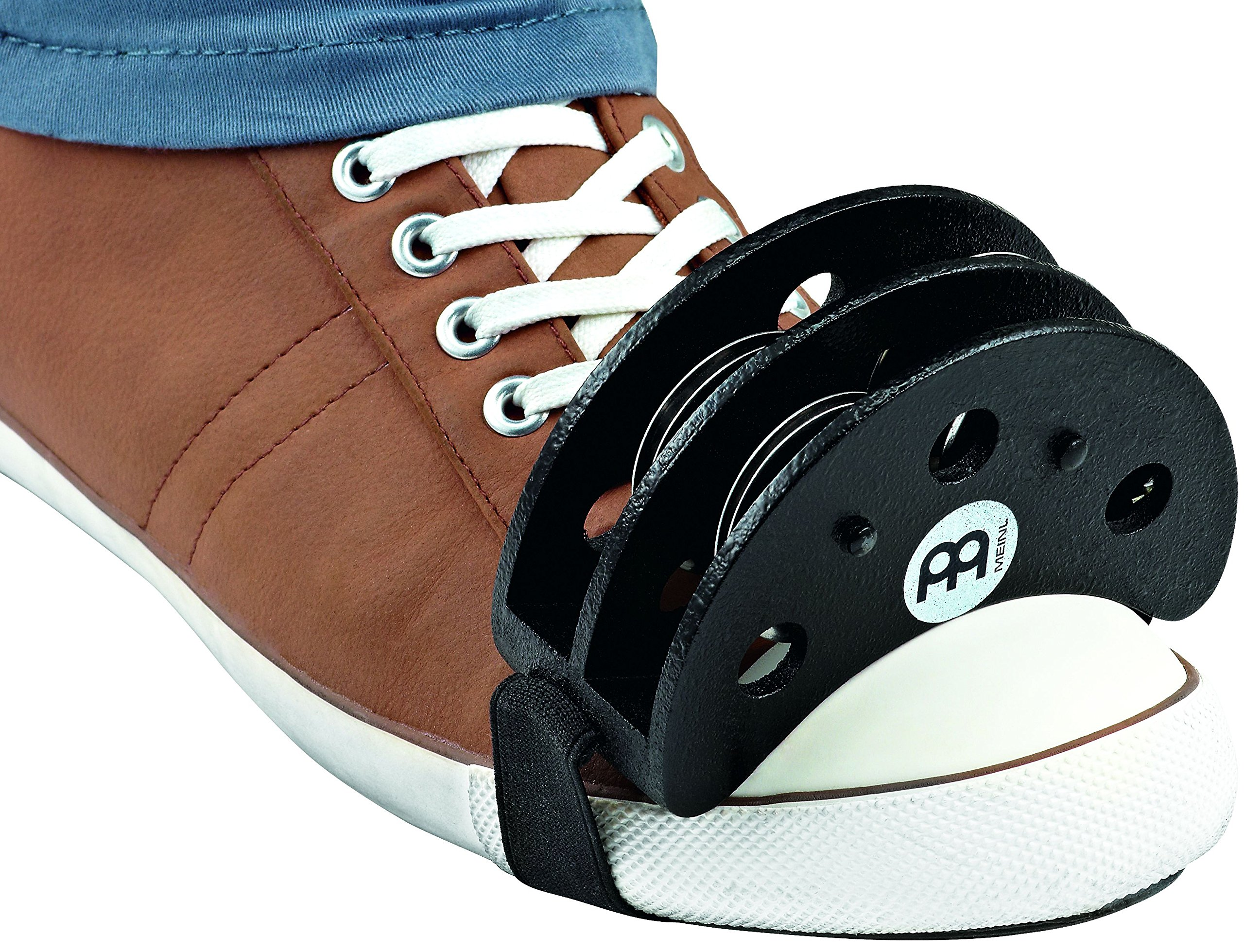 Meinl Foot Tambourine with Stainless Steel Jingles - NOT MADE IN CHINA - Accompaniment for Cajon