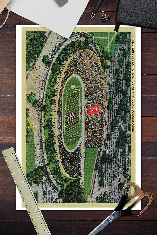 Amazon.com: Palo Alto, California - Stanford University Stadium (12x18 Signed Print Master Art Print w/Certificate of Authenticity - Wall Decor Travel ...