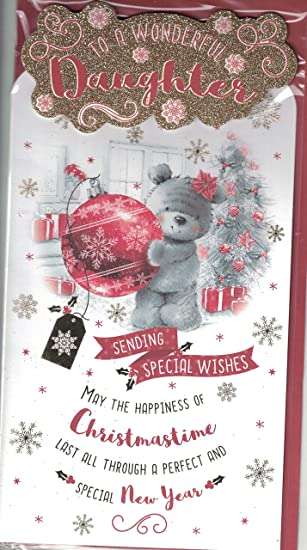 prelude daughter christmas card special daughter christmas wishes just for you cute bear in